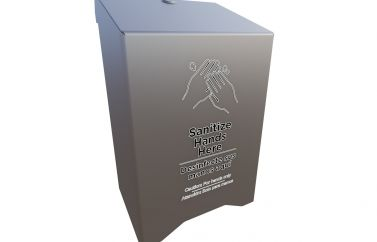 Complete Large Hand Sanitizer Station Add-On (Automatic Pump Style Dispenser)