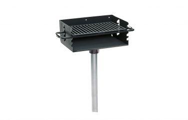 Rotating Flip-Back Pedestal Grill