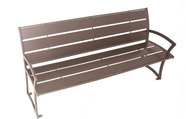 Madison Bench with Back - Powder Coated Steel