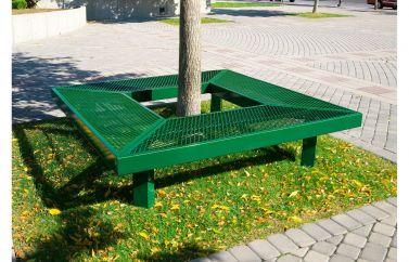 Geometric Mall Bench