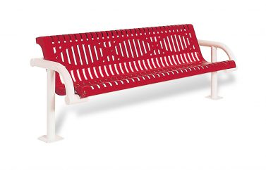 Contour Cantilevered Bench with Back