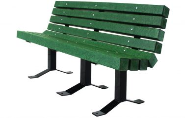 Recycled Bench with Back
