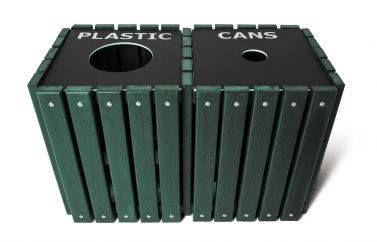 Recycling Double Receptacle