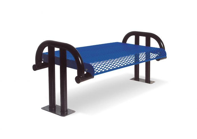 976 Sm V4 4 Ft Surface Mount Contour Cantilevered Bench Us27 1