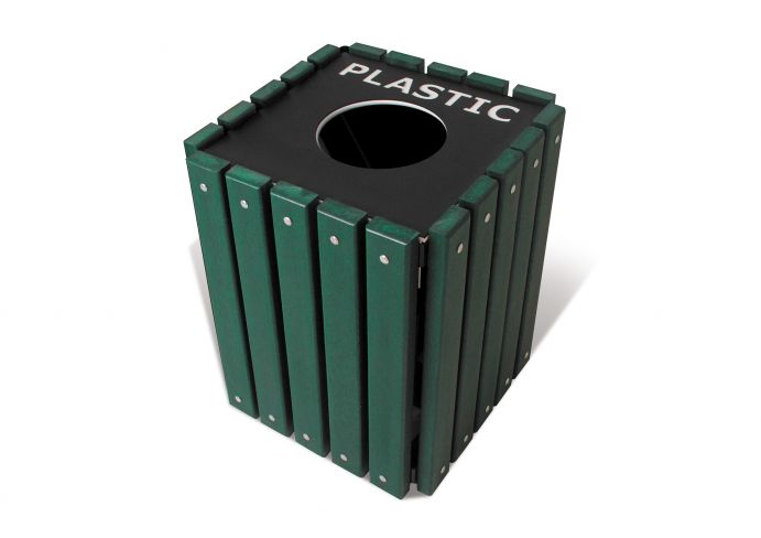 Trsq 20 Grn Single Recycling Receptacle Us27 063 1