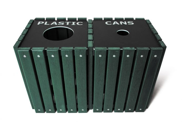 Trsq 40 Grn Double Recycling Receptacle Us27 052 1