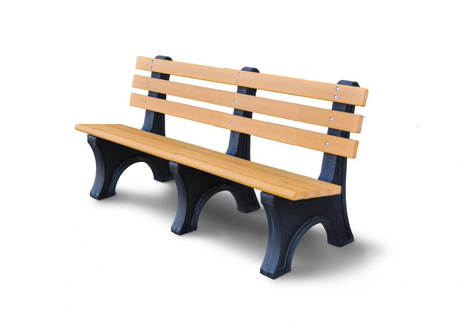 100% Recycled Bench with Back
