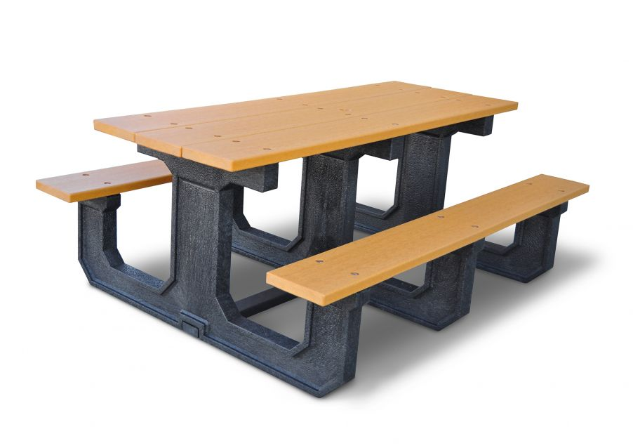 100% Recycled Rectanglar Picnic Table