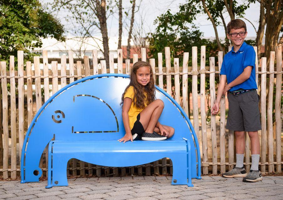 4' Elephant Bench