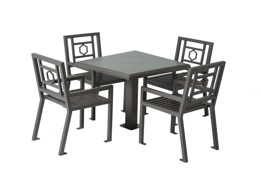 "36"" Square Huntington Table with 4 Chairs"