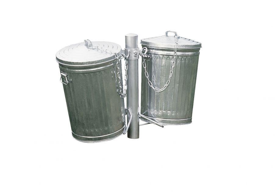 Galvanized Trash Receptacle