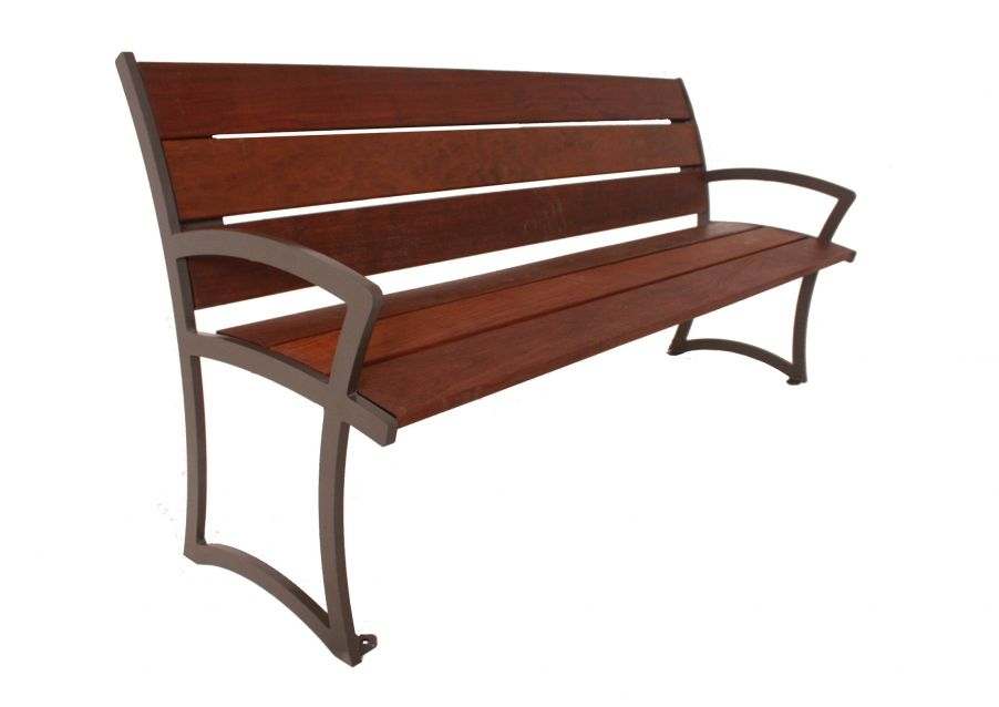 Madison Bench with Back - Ipe Wood