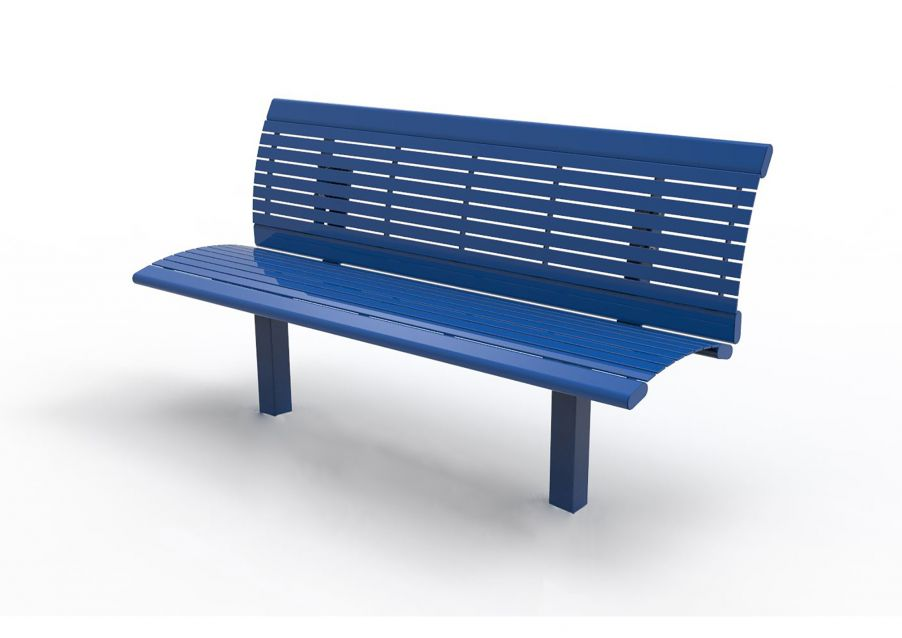 Richmond Steel Bench with Back