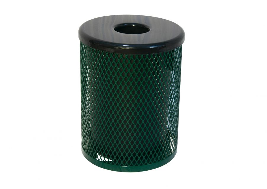 Metal Trash Receptacle